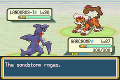 Battle in Pokemon Dark Rising