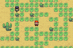 Grasses and Trainers in Pokemon Dark Rising