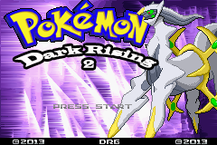 Pokemon Dark Rising 2 Title Screen
